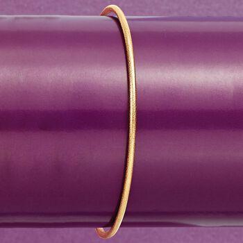 Italian 14kt Yellow Gold Textured Bangle Bracelet, , default