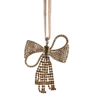 Joanna Buchanan Crystal Bow Ornament, , default