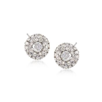 .43 ct. t.w. Diamond Illusion Stud Earrings in 14kt White Gold, , default