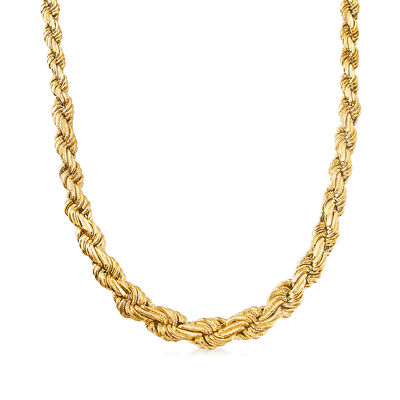 Italian 14kt Yellow Gold Twisted Link Necklace, , default