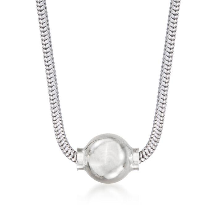 Sterling Silver Cape Cod Pendant Necklace, , default