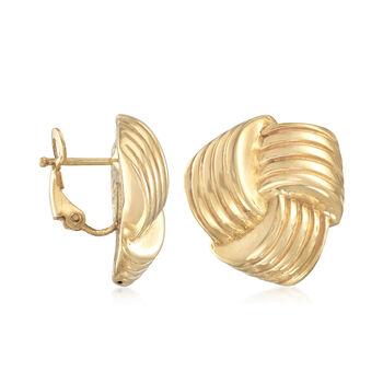 Italian 14kt Yellow Gold Love Knot Earrings, , default