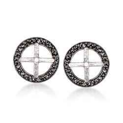 .40 ct. t.w. Black Diamond Earring Jackets in Sterling Silver, , default