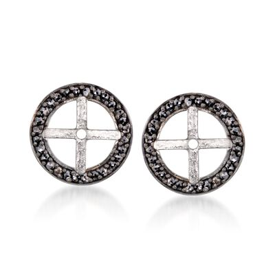 .40 ct. t.w. Black Diamond Earring Jackets in Sterling Silver, , default