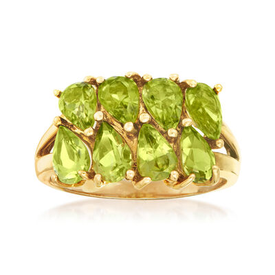 C. 1980 Vintage 3.60 ct. t.w. Peridot Ring in 10kt Yellow Gold, , default