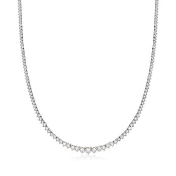 3.00 ct. t.w. Diamond Tennis Necklace in Sterling Silver, , default