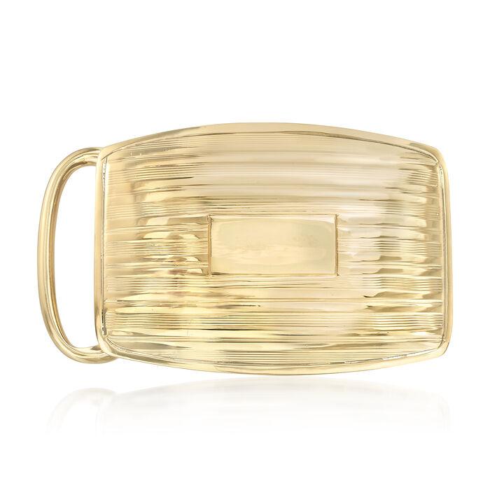 C. 1915 Vintage Tiffany Jewelry 14kt Yellow Gold Belt Buckle, , default