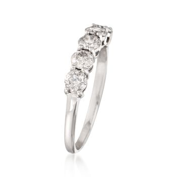 .50 ct. t.w. Diamond Five-Stone Ring in 14kt White Gold, , default