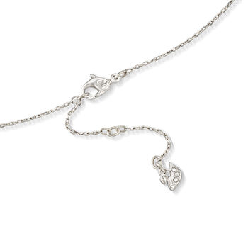 "Swarovski Crystal ""Attract"" Graduated Clear Crystal Pendant Necklace in Silvertone. 15"""