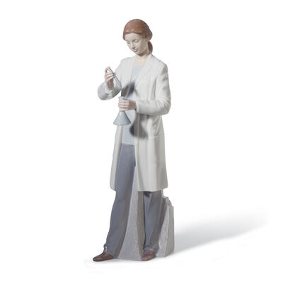 "Lladro ""In the Laboratory"" Porcelain Figurine, , default"