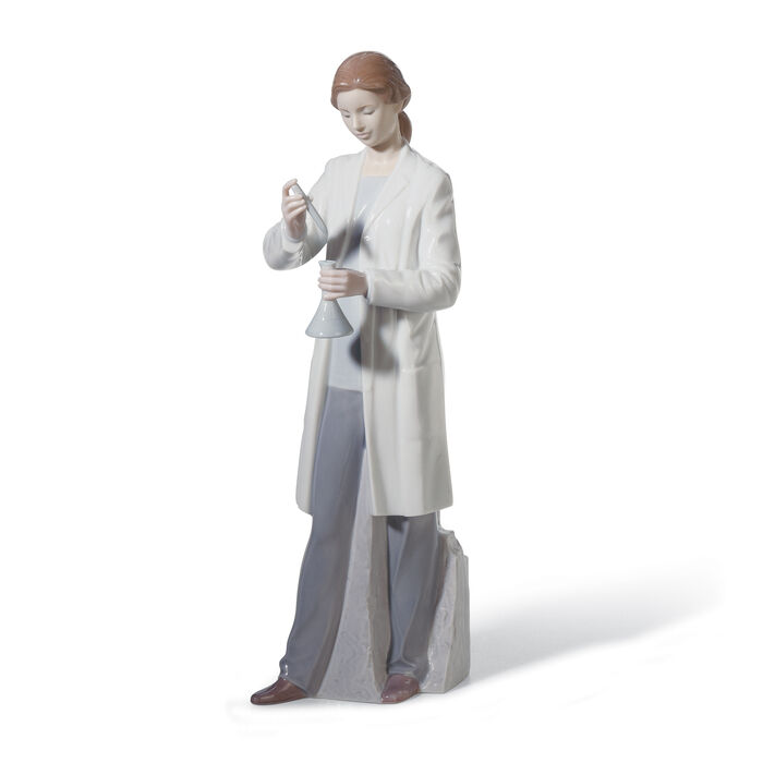 "Lladro ""In the Laboratory"" Porcelain Figurine, , default"