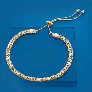 14kt Yellow Gold Byzantine Bolo Bracelet, , default