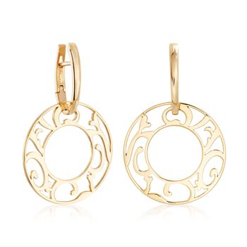 """Mattioli """"Siriana"""" 18kt Yellow Gold Earrings with Four Interchangeable Drops: 18kt Gold and Multi-Stone. 1 1/4"""""""