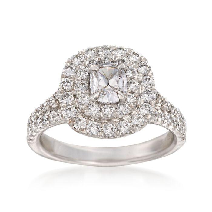 Henri Daussi 1.52 ct. t.w. Diamond Engagement Ring in 18kt White Gold