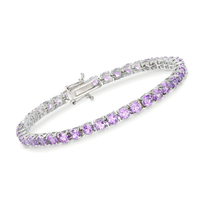 """7.00 ct. t.w. Amethyst Tennis Bracelet in Sterling Silver. 7"""", , default"""