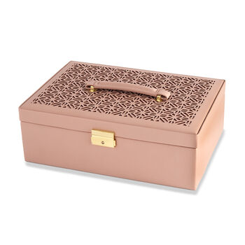 "Mele & Co. ""Naomi"" Faux Leather Locking Jewelry Box, , default"