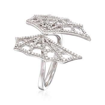 .50 ct. t.w. Diamond Spider Web Ring in Sterling Silver