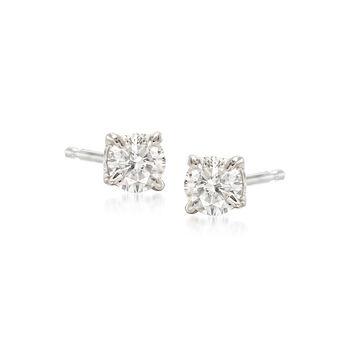 .33 ct. t.w. Diamond Stud Earrings in 14kt White Gold , , default