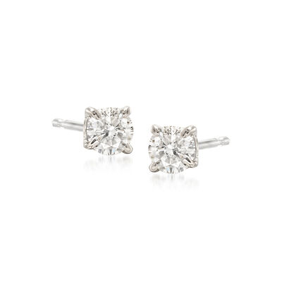 .33 ct. t.w. Diamond Stud Earrings in 14kt White Gold , , default