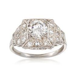 C. 2000 Vintage 1.54 ct. t.w. Certified Diamond Ring in Platinum, , default