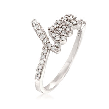 ".40 ct. t.w. Diamond ""Love"" Ring in Sterling Silver, , default"