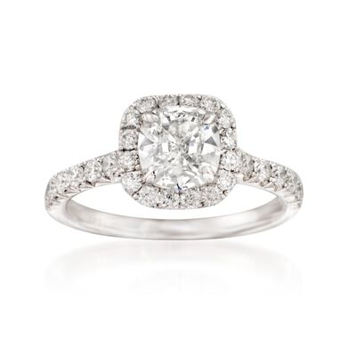 Henri Daussi 1.80 ct. t.w. Certified Diamond Engagement Ring in 14kt White Gold, , default