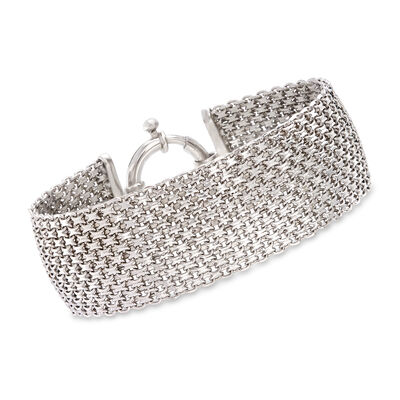 Sterling Silver Mesh-Link Bracelet, , default