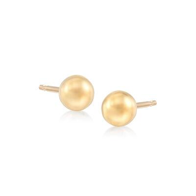 5mm 14kt Yellow Gold Ball Stud Earrings, , default