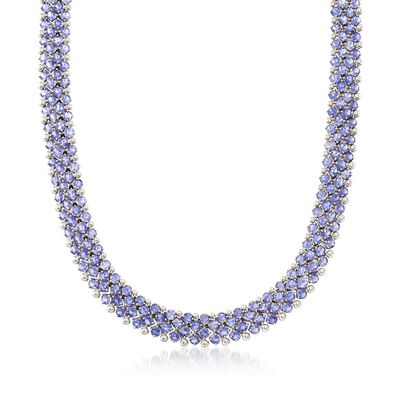 C. 1990 Vintage 45.60 ct. t.w. Iolite Necklace in 14kt White Gold, , default