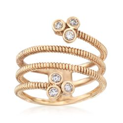 .28 ct. t.w. Diamond Coil Ring in 14kt Yellow Gold, , default