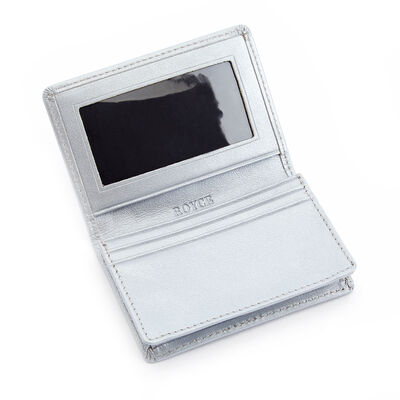 "Royce ""Executive Office"" Silver Leather Card Holder"