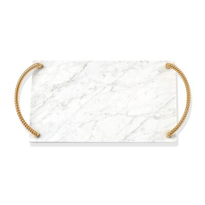 "Reed & Barton ""Roseland"" Marble Challah Tray, , default"