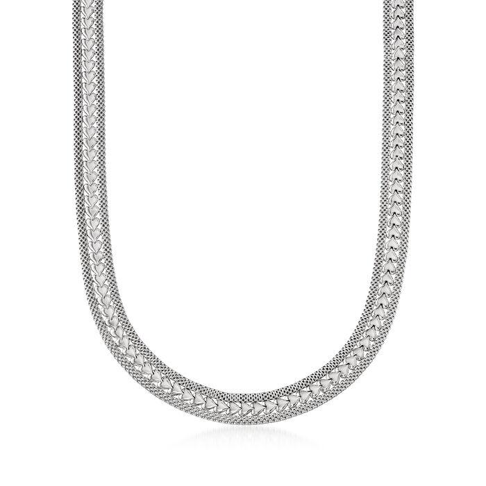 Italian Sterling Silver Heart Necklace