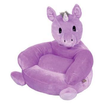 Children's Plush Purple Unicorn Chair