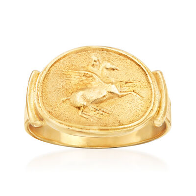 Italian 18kt Gold Over Sterling Tagliamonte Pegasus Ring, , default