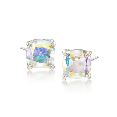 2.20 ct. t.w. Cushion-Cut Mystic White Topaz Stud Earrings in Sterling Silver, , default