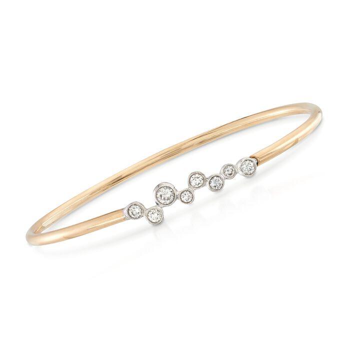 "Simon G. ""Enchantment"" .56 ct. t.w. Bezel-Set Diamond Bracelet in 18kt Yellow Gold. 7"", , default"