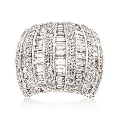 5.00 ct. t.w. Diamond Dome Ring in 14kt White Gold, , default