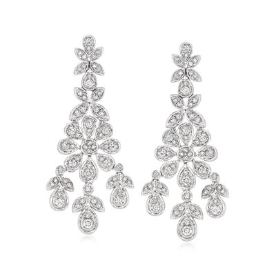 1.50 ct. t.w. Diamond Chandelier Earrings in 14kt White Gold