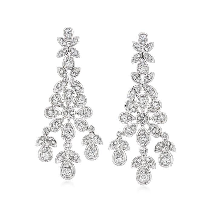 1.50 ct. t.w. Diamond Chandelier Earrings in 14kt White Gold