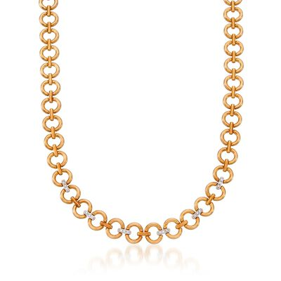 C. 1980 Vintage .40 ct. t.w. Diamond Necklace in 18kt Two-Tone Gold, , default