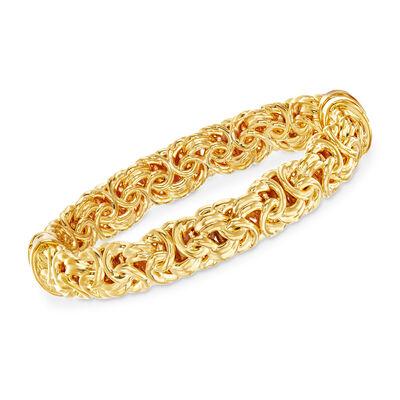 Andiamo 14kt Yellow Gold Byzantine Bracelet, , default