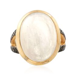 Moonstone Ring in 18kt Gold Over Sterling, , default