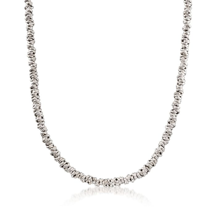 Italian Sterling Silver Clustered Circle Necklace, , default