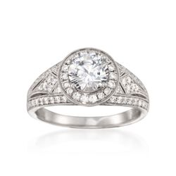 Simon G. .49 ct. t.w. Diamond Engagement Ring Setting in 18kt White Gold, , default