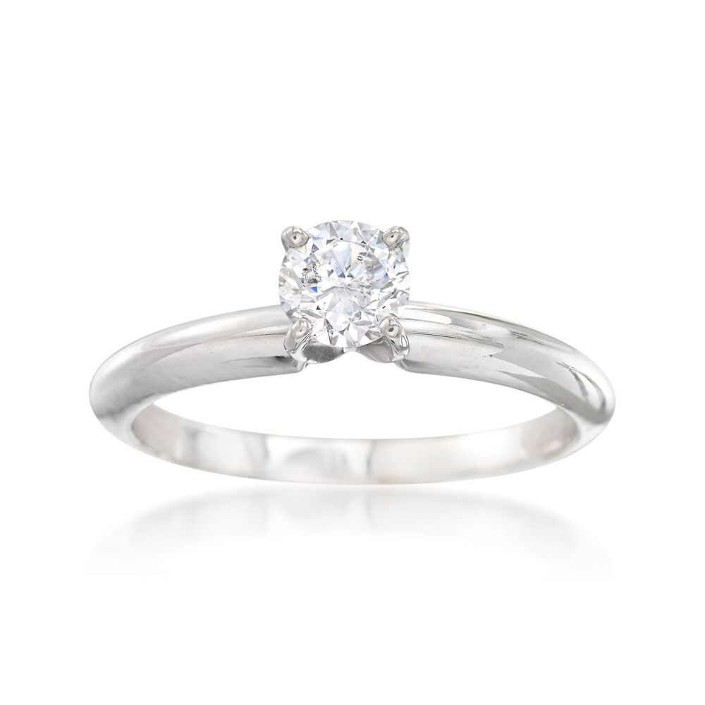 2000 Wedding Ring | C 2000 Vintage 44 Carat Diamond Solitaire Engagement Ring In 14kt