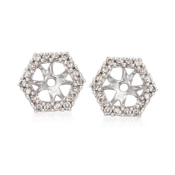 .24 ct. t.w. Diamond Hexagon Earring Jackets in 14kt White Gold, , default