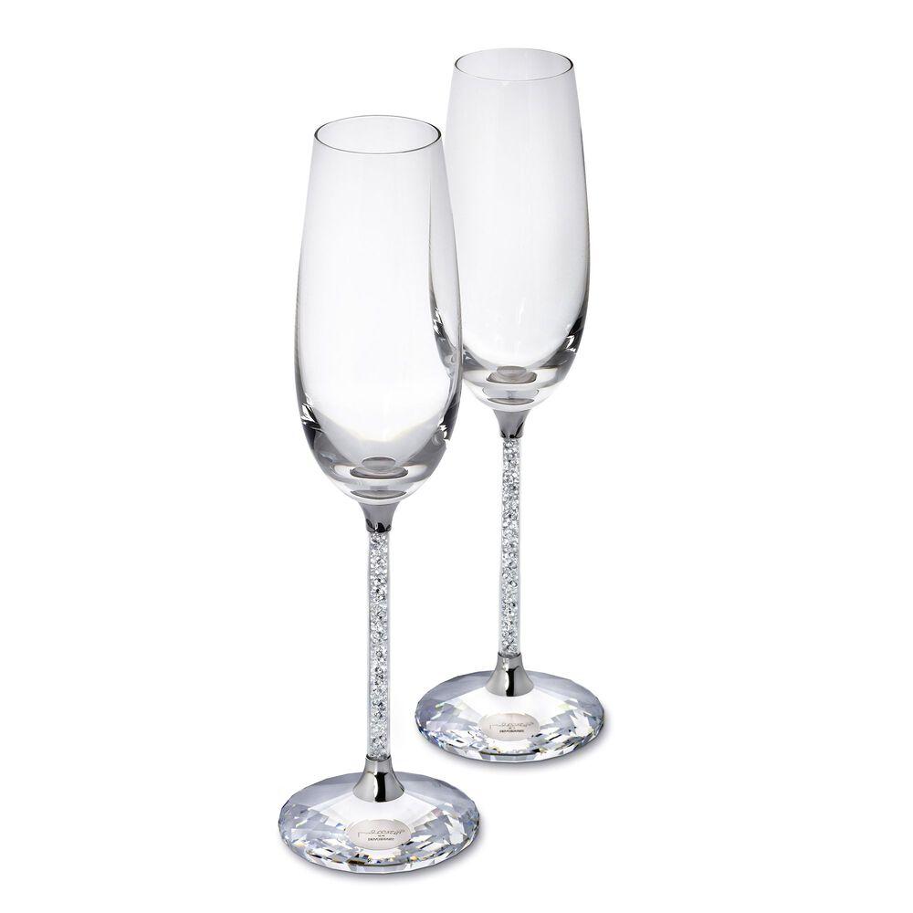 Swarovski Crystal Crystalline Champagne Flute Set Ross Simons