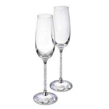 """Swarovski Crystal """"Crystalline"""" Champagne Flute Set, , default"""