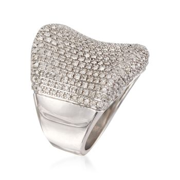 1.50 ct. t.w. Pave Diamond Concave Ring in Sterling Silver, , default